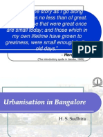 Urbanisation in Bangalore