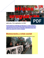 Noticias Uruguayas miércoles 5 de setiembre del 2012
