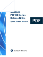 Cambium PTP500 Series 05-02 System Release Note