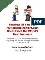 MyNoteTakingNerd Best of the Best Report