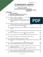 Advance Power Electronics_GTU question paper_Jan2011