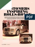 Customers inspiring Rolls-Royce