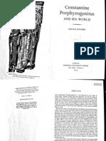 Stewen Runciman. Constantine Porphyrogenitus and His World