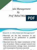 Materials Management SIMSR Latest