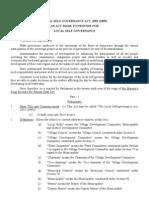 Local Self Governance Act 1999