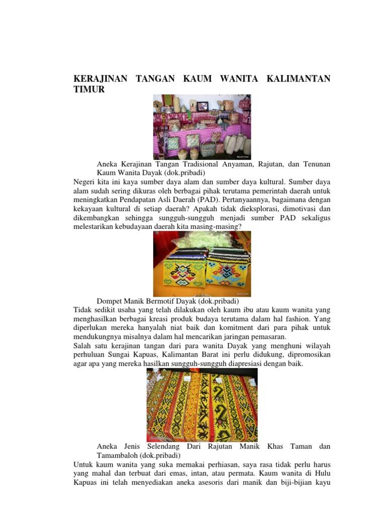 Kerajinan Tangan Kaum Wanita Kalimantan Timur df66afc9e2