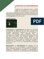 Competencias y componentes de la prueba Matemáticas del examen Icfes