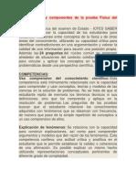 Competencias y componentes de la prueba Física del examen Icfes
