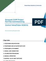 Control Valve Calibration Procedure(Fisher HC6010)
