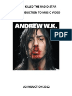 Video Killed the Radio Star Ford Hammond Andrew Wk Complete Document