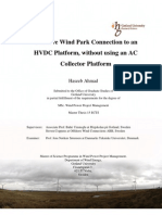 Offshore Wind Park Connection to an HVDC Platform, without using an AC Collector Platform