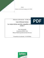 Julie Dumaine - Mémoire Luxe et Internet