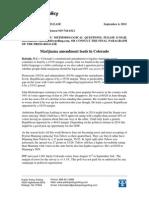 Public Policy Polling Marijuana Amendment Results September 4, 2012