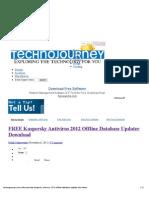 FREE Kaspersky Antivirus 2012 Offline Database Updater Download _ TechnoJourney