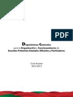 Disposiciones  Generales 2012-2013