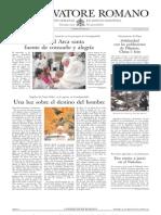 L´OSSERVATORE ROMANO. 19 Agosto 2012