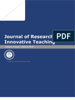 Journal of Research in Innovative Teaching Volume 3
