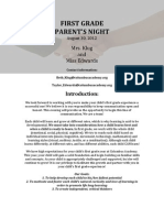 2012-13 Parent's Night Packet