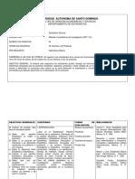 Programa de Est-112 UASD