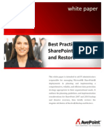 Best Practices for SharePoint Backup and Recovery