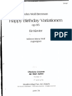 Happy Birthday Variations