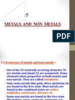 4 Metals and Non Metals