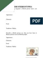 Stereotype Worksheets