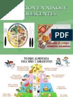 NUTRICION EN NIÑOS Y ADOLESCENTES