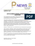 DUI Check PointPress Release Sept 2012