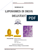 Seminar on Liposomes in Drug Delivery