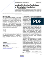 A Novel Dimension Reduction Technique Based on Correlation Coefficient