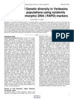 Assesment of Genetic Diversity in Verbesina Encelioides Populations Using Randomly Amplified Polymorphic Dna (Rapd) Markers
