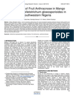 First Report of Fruit Anthracnose in Mango Caused by Colletotrichum Gloeosporioides in Southwestern Nigeria