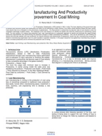 Lean Manufacturing and Productivity Improvement in Coal Mining