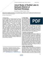 Physico Chemical Study of Dodital Lake in Uttarkashi District of Garhwal Himalaya