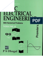 Basic Electrical Engineering - With Numerical Problems [Vol 2] - P. Dhogal (TATA McGraw-Hill, 2007) WW