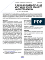 Hiding Text in Audio Using Multiple LSB Steganography and Provide Security Using Cryptography