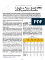 Optimization of Auxiliary Power Supply APS Systems With Photovoltaic Modules