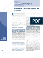 An Agenda for Population, Health, and Environment