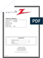 Zenith P50W28 Service Manual