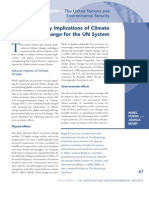 The Security Implications of Climate Change for the UN System
