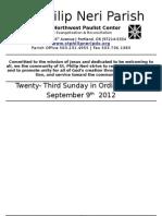 September9th Bulletin