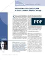 Migration as the Demographic Wild Card in Civil Conflict