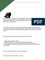 NOVO CÓDIGO DO TRABALHO - DOIS ASPETOS DECISIVOS