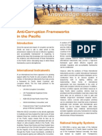 2007 03 Anti-Corruption Frameworks in the Pacific - Synexe Knowledge Note