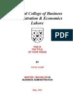 MBA-BBA Dissertation Template