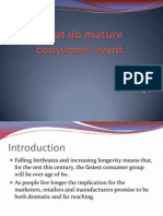 What Do Mature Consumers Want