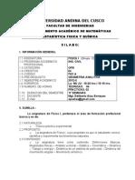 Silabo de Fisica i (Ing. Civil) 2012 - II Grupo c