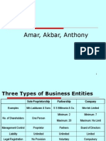 Forms of Business Entity