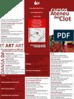 Triptic Curs de Paremiologia 2.0 a La Farinera Del Clot (Barcelona)